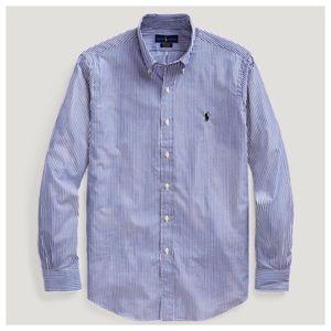 NWT POLO Ralph Lauren Men's  Striped Dress Shirt L